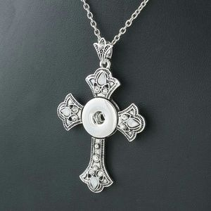 Jewelry - Women's cross necklace change cross snap jewelry